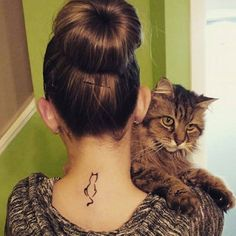25 Cat Tattoo Designs You Could Dedicate To Your Cat.... I must have one.