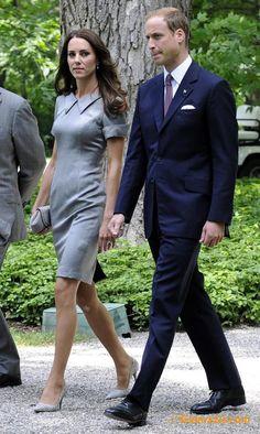 Kate In Beautiful Grey Dress