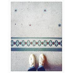 love penny tiles! #floors #coffeehousesofbrooklyn by brianheiser