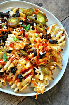 Vegan Loaded Texas Fries - Rabbit and Wolves