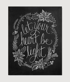 """""""Let your heart be light"""" print by Lily & Val."""