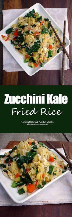 Zucchini Kale Fried Rice