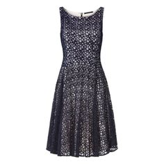 Kanten jurk met pailletten Donker blauw