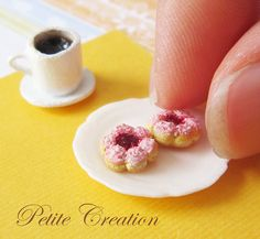 Donut Collection - Strawberry Flower Donuts (Stud Earrings) | Flickr - Photo Sharing!