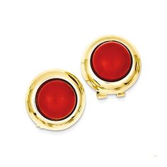 IceCarats Designer Jewelry 14K Omega Clip Reconstituted Coral Earrings IceCarats http://www.amazon.ca/dp/B00NC50IW0/ref=cm_sw_r_pi_dp_M3F8ub08F1977