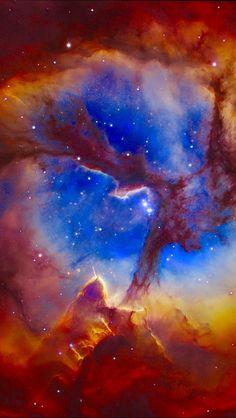 Hubble Space Telescope Center of The Trifid Nebula - Nasa Hubble Images, Hubble Pictures, Telescope Pictures, Hubble Galaxies, Nasa Photos, Cosmos, Space Photos, Space Images, Nasa Space Pictures