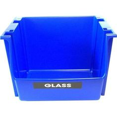 United Solutions 5 gal. Blue Recycling Nesting/Stacking Bin