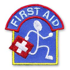 2 x 2 Inches **IRON-ON backing for easy and Snappy application** First aid knowledge is an important skill to have. Create an activity with the children of your youth group or troop where they are learing about first aid and having fun too. Commemorate the activity with our First Aid fun patch. http://www.snappylogos.com/First-Aid-Fun-Patch/productinfo/3718/