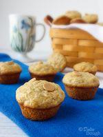 Banana Peanut Butter Chip Mini Muffins | Dulce Dough Recipes