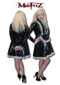 MISFITZ-BLK-LATEX-RUBBER-STRAITJACKET-RESTRAINT-MAIDS-DRESS-SIZE-8-26-CUSTOM