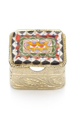 Italian mosaic pill box. Shop Carole Tanenbaum vintage. Moda Operandi.