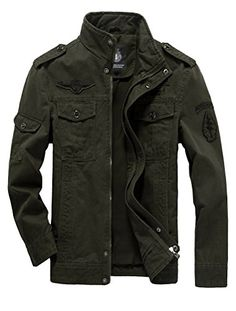 3e22813b831 Mordenmiss Men s Military Jacket Tucker Winderproof Cotto... https   www.