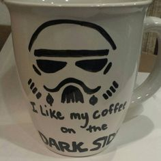 These awesome mugs are made by hand with love and care. I make them with oil based paint pens. * * hand wash with care * *    I would be happy to