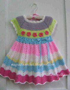 Crochet Baby Girl Dress Free Pattern Robes New Ideas Crochet Toddler, Crochet Girls, Crochet Baby Clothes, Crochet For Kids, Crochet Dresses, Crochet Children, Magia Do Crochet, Knit Crochet, Easy Crochet