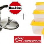 Hawkins Classic 1.5L Pressure Cooker + Princeware Container Set of 5 Pcs worth Rs. 1130 at Rs. 630