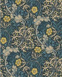 Morris Seaweed Ink/Woad från William Morris & Co