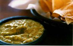 Ninfa's green sauce - a creamy and tangy mix of avocados, cilantro, tomatillos, jalapenos and sour cream