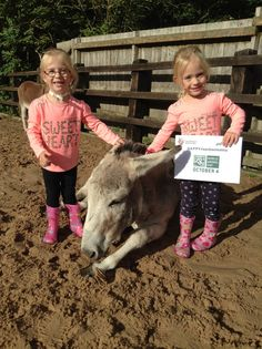 Alvis with Amber and Hope from our donkey assisted therapy centre in Birmingham supporting #WorldAnimalDay  www.thedonkeysanctuary.org.uk