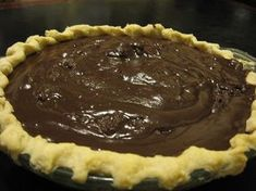 "Another pinner says,This is described as a ""family secret"" Chocolate Pie Recipe."