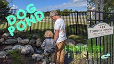 Watch the full video on our YouTube channel of a donated dog friendly pondless waterfall and stream for the meet and greet park at the Charlevoix Area Humane Society. Backyard Farming, Ponds Backyard, Pond Design, Landscape Design, Toddler Playground, Pond Maintenance, Boyne City, Traverse City Michigan, Pond Water Features