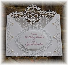 Again using the Spellbinders Heartfelt Creations Blossom corner die