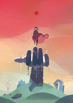 Animation Viviane Tanner - Illustration - The online portfolio of Viv Tanner. Art And Illustration, Character Illustration, Illustrations Posters, Animal Illustrations, Inspiration Art, Art Inspo, Fantasy Kunst, Fantasy Art, Game Art