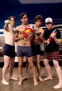 "Andy Hurley, Pete Wentz, Joe Trohman and Patrick Stump from ""FALL OUT BOY"""
