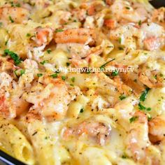 Lobster, Crab and Shrimp Macaroni and Cheese Recipe Lobster Recipes, Crab Recipes, Cheese Recipes, Cooking Recipes, Seafood Pasta Recipes, Shrimp Macaroni And Cheese Recipe, Seafood Mac And Cheese, Shrimp And Garlic Sauce Recipe, Recipe For Lobster Mac And Cheese