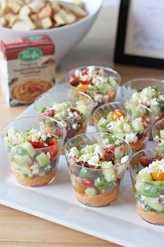 Individual Mediterranean Dips & A Summer Party!