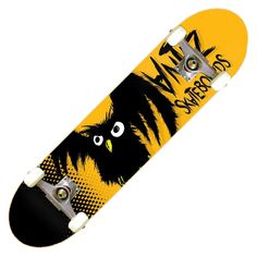 "Board complète Antiz Hiboux yellow 7.6"" 110€ #antiz #skate #skateboard #skateboarding #skates #skater #skateboards #boardcomplete"