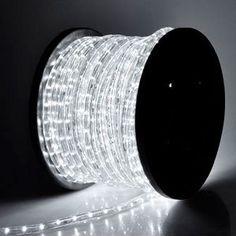 Agptek 50m164feet 2 wire 110v 1 led spacing rope light warm rope lights christmas xmas new year lighting led rope light 150ft white ii w aloadofball Choice Image