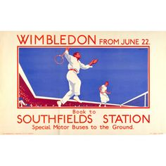 Poster: Wimbledon from June 22 - L B Black (1925)