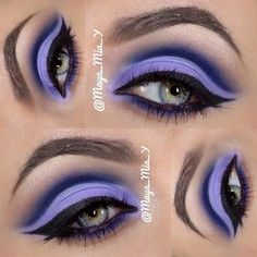 Purple eye makeup is my favorite