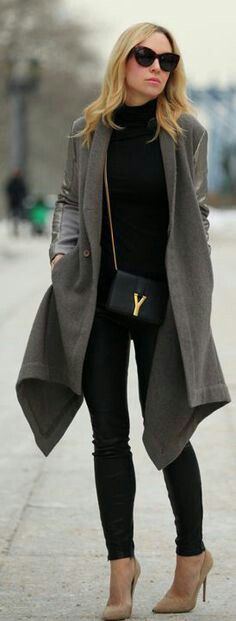 Black short scarf or a grey one would do