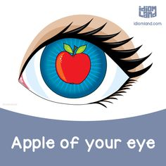 Idiom of the day: Apple of your eye. Meaning: The person who you love most. - Repinned by Chesapeake College Adult Ed. We offer free classes on the Eastern Shore of MD to help you earn your GED - H.S. Diploma or Learn English (ESL) . For GED classes contact Danielle Thomas 410-829-6043 dthomas@chesapeke.edu For ESL classes contact Karen Luceti - 410-443-1163 Kluceti@chesapeake.edu . www.chesapeake.edu