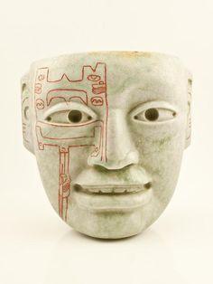 Arroyo Pesquero Mask originally discovered in 1969 - replica on sale at Casa del Jade in Guatemala