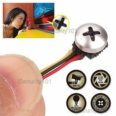 Mini Micro Spy Camera Cam Screw Pinhole Hidden Button Home CCTV Security for sale online Micro Spy Camera, Wireless Spy Camera, Hidden Spy Camera, Spy Devices, Spy Equipment, Home Cctv, Spy Gear, Spy Gadgets, Home Camera