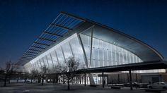 Estación de Buses. Canberra, Australia Render Nocturno Encarganos los renders o animaciones para tu proyecto o tesis! Visualización 3D - Recorrido Arquitectura - ARC - You Imagine. We make it Real.