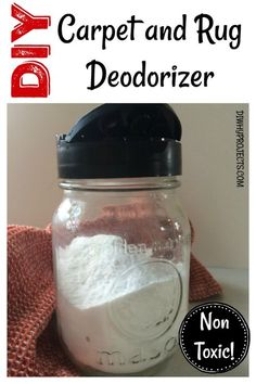 Non Toxic DIY Carpet and Rug Deodorizer. Keep your house smelling fresh naturally. Non Toxic Natural Cleaning Supplies.