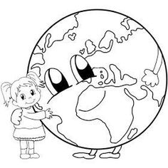 Earth Day Coloring Pages, Coloring Book Pages, Numbers Preschool, Preschool Crafts, Baby Art Crafts, Stick Figure Drawing, Art With Meaning, Earth Day Crafts, Drawing Sheet