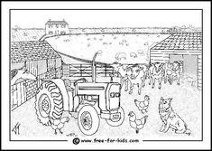 Blank farmyard scene (free printable)   Printables ...