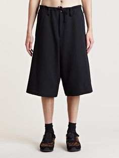 Yohji Yamamoto Men's Wool Shorts