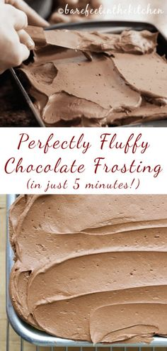 Homemade Frosting Recipes, Cake Frosting Recipe, Chocolate Frosting Recipes, Baking Recipes, Cake Recipes, Dessert Recipes, Best Chocolate Buttercream Frosting, Chocolate Icing Recipe Using Chocolate Chips, Fluffy Frosting Recipes