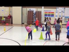 Aerobic Bowling in Physical Education Physical Education Activities, Pe Activities, Health And Physical Education, Indoor Activities, Gym Games, Kids Party Games, Yoga For Kids, Exercise For Kids, Elementary Pe