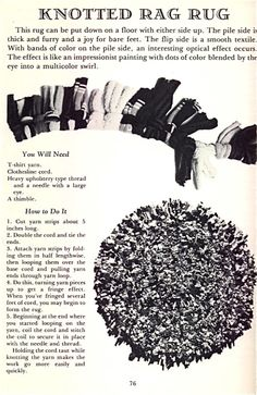 I have a fun book called Rags: Making a Little Something Out of Almost Nothing, written by sisters Linda and Stella Allison and published in 1979. One of the best ideas in the book is making yarn o…