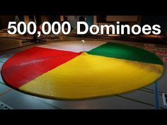 500,000 Dominoes - The Year in Domino - 3 Guinness World Records - YouTube- This is amazing!!