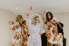 Bridesmaid Robes Floral Satin Robes Bridesmaid Gifts Getting Ready Robes Bridesmaid Robes, Bridal Robes, Wedding Accessories, Floral, Fashion, Moda, Bride Maid Dresses, Fasion, Flowers