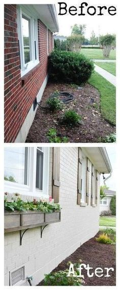 Build a Window Box How to build window boxes and add curb appeal and color to your home.How to build window boxes and add curb appeal and color to your home. Exterior Paint Colors, Exterior House Colors, Paint Colors For Home, Exterior Design, Exterior Shutters, Wall Exterior, Wood Shutters, Diy Exterior, House Shutters