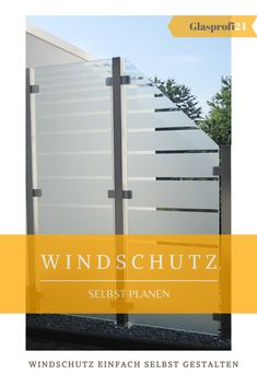 modern privacy screen in the garden - Zaun Roof Balcony, Balcony Privacy, Glas Art, Planer, Wind Turbine, Outdoor Decor, Garden Modern, Home Decor, Corona