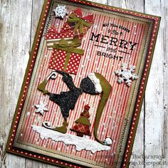 Hi all and welcome to another week on the Simon Says Stamp Monday Challenge Thank you for joining us for the … Christmas Cards To Make, Christmas Settings, Noel Christmas, Xmas Cards, Handmade Christmas, Holiday Cards, Christmas Crafts, Stamped Christmas Cards, Tim Holtz Dies